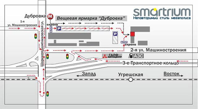 Схема проезда чип тюнинг Москва м. Дубровка.