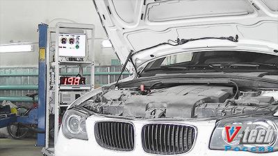 Измерение мощности на стенде измерения мощности - BMW 120D.